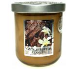 Heart & Home Santalové drevo a vanilka Sójová vonná sviečka strednej horí až 30 hodín 115 g
