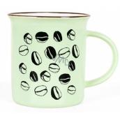 Albi Keramický plecháček Káva zelený 320 ml