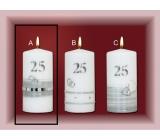 Lima Jubilejní 25 let svíčka Stříbrná svatba Motiv A, 70 x 150 mm 1 kus