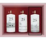 Lima Jubilejní 25 let svíčka Stříbrná svatba Motiv C, 70 x 150 mm 1 kus