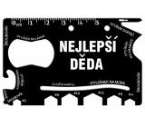 Albi Multináradie do peňaženky Najlepšie dedo 8,5 cm × 5,3 cm × 0,2 cm