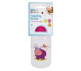 First Steps Safari dojčenská fľaša 0+ Hroch fialový 150 ml