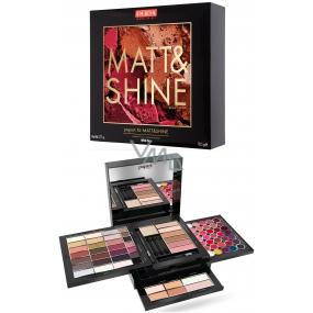 Pupa Pupart XL Matt & Shine Make-up kazeta pre líčenie očí, pier a tváre 001 Wild Fire 78,5 g