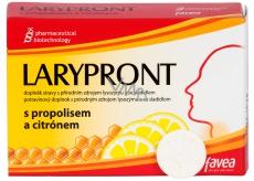 Favea Larypront s propolisem a citronem tablety rozpustné v ústech ke zklidnění krku 12 tablet