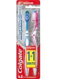 Colgate Max White Medium střední zubní kartáček 1 + 1 kus