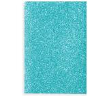 Ditipo Zošit Glitter Collection A4 linajkový svetlo modrý 21 x 29 cm 3424