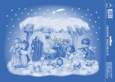 Arch Vianočné samolepka, okenné fólie bez lepidla Betlehem 25 x 35 cm
