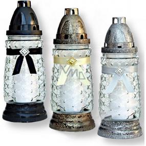 Rolchem Lampa sklenená čierna, zlatá, strieborná 23 cm 32 hodín 65 g Z-11 1 kus