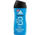 Adidas After Sport 3v1 sprchový gel na tělo, vlasy a tvář pro muže 250 ml