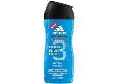 Adidas After Sport 3v1 sprchový gél na telo, vlasy a tvár pre mužov 250 ml