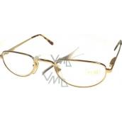 Berkeley Čtecí dioptrické brýle +1 zlaté malé MC2 1 kus