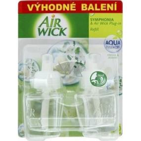Air Wick Symphonia & Plug-in Biele kvety náhradná náplň 2 x 19 ml