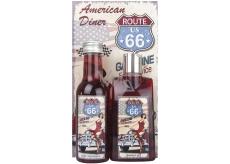 Bohemia Gifts & Cosmetics American Diner Hroznový olej a extrak vínnej révy Sprchový gél 200 ml + Kouoelová kúpeľ 200 ml + Obrázok Rob to, čo ťa urobí šťastným .. 13 x 24 cm, Kozmetická sada