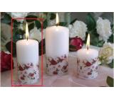 Lima Ruže sviečka biela valec 50 x 100 mm 1 kus