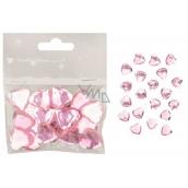 Srdiečka samolepiace ružová 2 cm 20 kusov