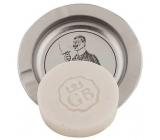 Bohemia Gifts & Cosmetics Ručne vyrábané toaletné mydlo s glycerínom na plechové podložke Gentleman 80 g