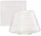 Yankee Candle Belmont Sandblasted on Glass tienidlo malé 8 x 9 cm + tanier malý 9 x 9 cm na sviečku malú Classic