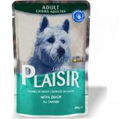 Plaisir Dog kačacie kompletné krmivo pre dospelých psov kapsička 100 g