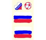 Arch Tetovací obtisky na obličej i tělo Ruská vlajka 1 motiv