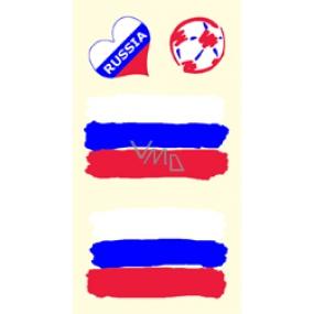 Arch Tetovací obtisky na obličej i tělo Rusko vlajka 1 motiv
