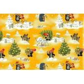 Nekupto Vánoční balící papír Krtek žlutý 70 x 200 cm 1 role