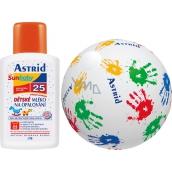 Astrid Sun Baby F25 mléko na opalování pro děti 200 ml nafukovací míč