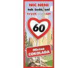 Bohemia Gifts Mliečna čokoláda Všetko najlepšie 60, darčeková 100 g