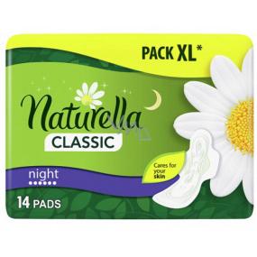 Naturella Classic Night hygienické vložky s harmančekom 14 kusov