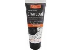 Beauty Formulas Charcoal Íl + Aktívne uhlie pleťová maska na tvár a krk 100 ml