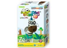 Jumping Clay Savana - Zebra samoschnoucí modelovacia hmota 51 g + papierová maketa + tvorítko 5+
