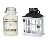 Yankee Candle Fluffy Towels - Nadýchané osušky vonná sviečka Classic veľká sklo 623 g + Beach House lampáš, darčeková sada