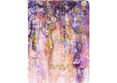 Albi Diár 2020 denný Abstraktné akvarel 17 x 12,6 x 2,4 cm