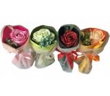NeoCos Mydlová ruže kytice v papieri zelená 1 kus