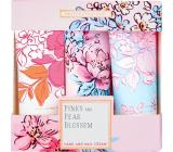 Heathcote & Ivory Pinks & Pear Blossom krém na ruky a nechty 3 x 30 ml, kozmetická sada