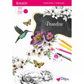 Ditipo Trblietavé maľovanky Paradise 8 listov 21 x 30 cm