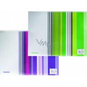 Donau Obálka so zipsom A4 prúžky fialovej 25 x 33 cm
