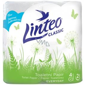 Linteo Classic toaletný papier biely 2 vrstvový 150 útržkov 4 kusy