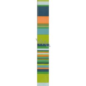 Nekupto Darčekový baliaci papier 70 x 150 cm Zelené pruhy 1 role