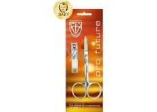 Kellermann Pro Future Line nůžky na nehty zakulacené 1 kus + kleštičky na nehty štípací pro děti FU 3424 1 kus