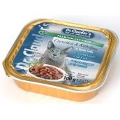 Dr. Clauders Krevety a treska s kúskami mäsa kompletné krmivo pre mačky 100 g