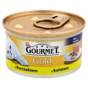 Gourmet Gold Cat Kuracie jemná konzerva pre dospelé mačky 85 g