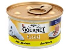 Gourmet Gold Cat Kuřecí jemná konzerva pro dospělé kočky 85 g