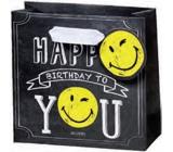 BSB Dárková papírová taška malá 14,5 x 15 x 6 cm Smiley LDT 377-CD
