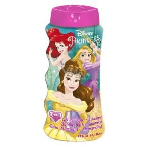 Disney Princess 2v1 šampón na vlasy a telo & pena do kúpeľa pre deti 475 ml