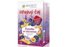 Megafyt Bylinková lekáreň Slivka sa zázvorom ovocný čaj napomáha k tráveniu, obranyschopnosti tela a relaxáciu 20 x 2,5 g