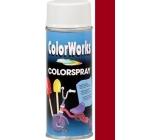Color Works Colorspray 918519 červená bordó alkydový lak 400 ml