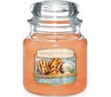 Yankee Candle Grilled Peaches & Vanilla - Grilované broskve a vanilka vonná svíčka Classic střední sklo 411 g