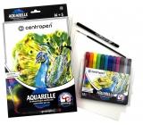 CENTROPEN AQUARELLE - sada akvarelových farieb 12 ks + príslušenstvo