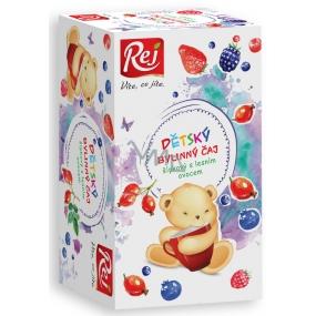 Rej Šípkový s lesným ovocím Bylinný čaj pre deti nálevové sáčky 20 x 26 g
