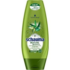 Schauma Nature Moments Stredomorský olivový olej a Aloe Vera regeneračné proti štiepeniu končekov balzam na vlasy 200 ml